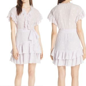 Rebecca Taylor Dree Embroidered Ruffle Dress 0 NWT